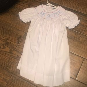 Other - White Big Sister smocked Dress